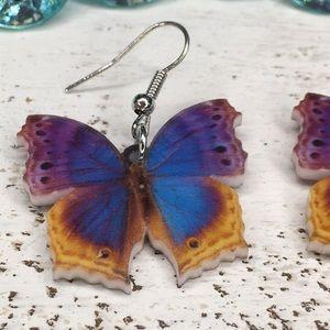 Jewelry - Purple Mist Acrylic Butterfly Earrings
